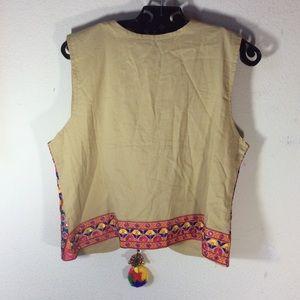 Vintage Jackets & Coats - 🎃 Afsana NWT Gypsy Indian 🌈 mirror vest